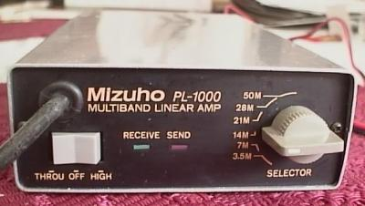 Mizuho PL-1000 1-2W in, 10W out multiband linear amplifier